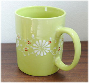 フラワーマグカップ[グリーン]