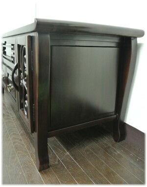 猫脚バタフライ彫刻扉TVボード
