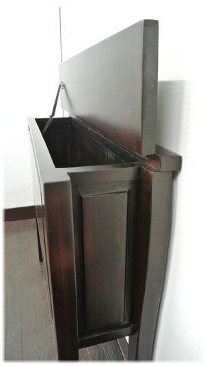 猫脚収納BOX付コンソールテーブル