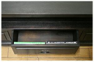オープンラック文様取っ手3引出TVボード