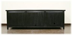 プルメリア彫刻入り扉TVボード