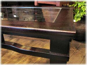格子アジアンローテーブルD60