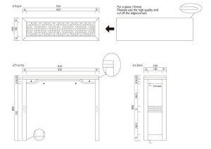 格子コンソールテーブル95
