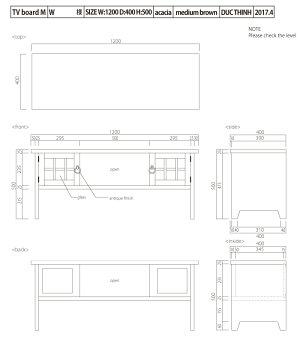 格子2扉TVボード
