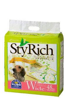 クリーンワン スタイリッチシート グリーンブーケの香り ワイド 48枚 シーズイシハラ わんぱくペット用 犬用