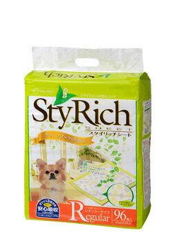 クリーンワン スタイリッチシート グリーンブーケの香り レギュラー 96枚 シーズイシハラ わんぱくペット用 犬用