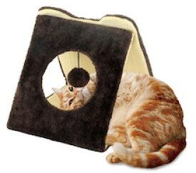 マルカン どこでもツメとぎ 三角トンネル 猫用 ペット用 動物用 お試し サンプル付【ラッキーシール対応】