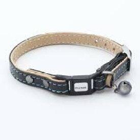 【クーポン有】 キャットカラー リザードM ブラック首回長20〜25cm W24796 猫用首輪 わんぱく お試し AM0