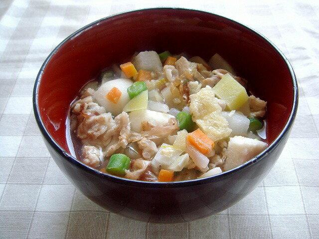 【無添加】 鰹(かつお)だしの具だくさん豚汁【ドッグフード DOG FOOD 犬 手作りご飯 手作り食】