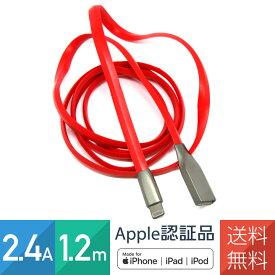 iPhone充電ケーブル 急速 Apple認証品 (Made for iPhone取得) 亜鉛合金 3D菱形立体ケーブル 2.4A 1.2m