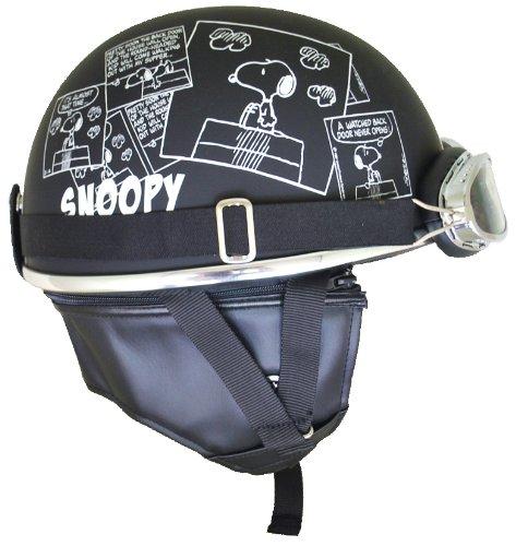 アークス ヘルメット SNOOPY スヌーピー ビンテージヘルメット SNV-01 | コミック マットブラック フリー バイク かっこいい 可愛い かわいい オシャレ おしゃれ キャラクター キャラ
