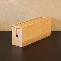 CORDBOX-ho(コードボックス)/配線コード/収納ボックス/小物入れ/オプション/木製/ホワイトオーク