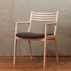 ダイニングアームチェアSF10-hmチェア/椅子/腰掛/木製/無垢材/軽い/強い/ハードメープル材/家具メーカー/日本製/シンプル