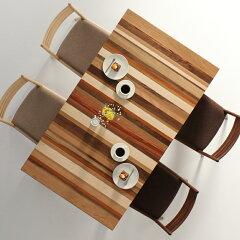 ダイニングテーブルFUZOROI-mix/サイズ対応/木製/天然木/カラフル/無垢材/モダン/デザイン/オリジナル