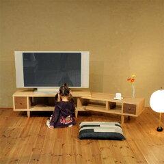 TVボードGARAGARA-1200ナチュラル色TVボード/TV台/テレビボード/テレビ台/AVボード/コーナー/木製/天然木/和モダン/家具メーカー/日本製/シンプル/デザイン/AVラック/送料無料/伸縮/伸長/北欧