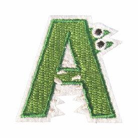 アイロンワッペン アルファベット A 動物 縦3.8cm 横3.8cm