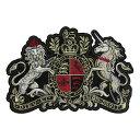 大きい ワッペン 紋章 エンブレム 縦26.5cm 横18cm