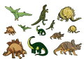 """""""ワッペン屋さんラボオリジナルワッペン""""恐竜セット大6個小6個合計12個セットワッペン(アイロン接着タイプ)"""