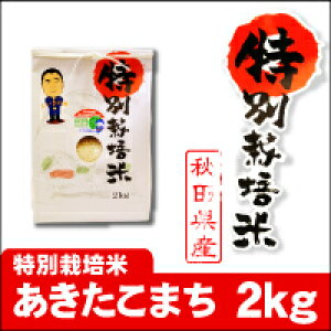 【秋田県産】【検査済】 [秋田県認証特別栽培米]令和元年産 あきたこまち(2kg)