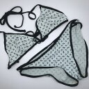 ◆[USED]◆送料無料◆シャネル CHANEL:ヴィンテージ ココマーク×バタフライプリント ビキニ(38)ビキニ/水着/スイムウェア◆ 【RC…
