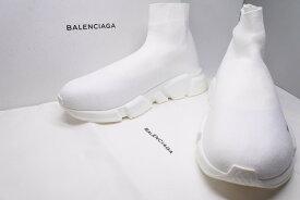 ◆[USED/中古] 送料無料BALENCIAGA SPEED TRAINER スピードトレーナー バレンシアガ スニーカー 41 ホワイト 未使用 24850◆【RCP】【中古】