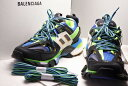 ◆[USED/未使用]◆送料無料◆BALENCIAGA バレンシアガ: track Shoes トラック 2 スニーカー 42 未使用 グリーン 箱付き 未使用 …