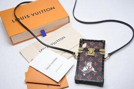 ◆[USED/中古]◆送料無料◆【美品】Louis Vuitton ルイヴィトン キャットグラム 携帯ケース IPHONE X XS アイトランク ショルダーバッグ M63891 美品 15342【RCP】【中古】
