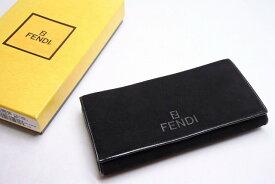◆[USED/中古]◆送料無料◆【美品】FENDI フェンディ 長財布 ブラック スエード レザー 箱付き ユニセックス 15753【RCP】【中古】