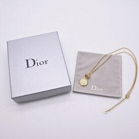 ◆[USED/中古]◆送料無料◆Christian Dior クリスチャン ディーオール ヴィンテージ Diorエンブレムロゴ ラウンド ゴールドネックレス◆ 【RCP】【中古】◆