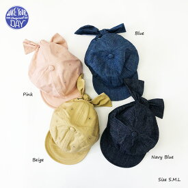 122219a6061b8 マタニティ授乳服ベビー ANGELIEBE · 【再入荷】【2019春夏新作】リボンキャップ【make your day