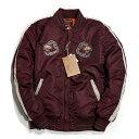 ショット ジャケット Schott ショット Nylon Tour Jacket ジャケット Schott NYC ショット ジャケット スカジャン スーベニアジャケット ナイロン ツアージャケット アウター ミリタリー ナイロンジャケット フライトジャケット Grey グレー バーガンディ ワインレッド 刺繍