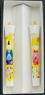 特別模式號兔 Hina 蠟燭 2 件 (手繪) 圖片蠟燭日本蠟燭配件