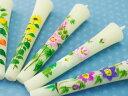 特別柄 花の詩・夏柄 3号絵ろうそく 6本入  絵ローソク 和ろうそく 仏具
