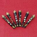 特別柄 紅白梅  絵ろうそく3号(手描き)6本入 絵ローソク 和ろうそく 仏具