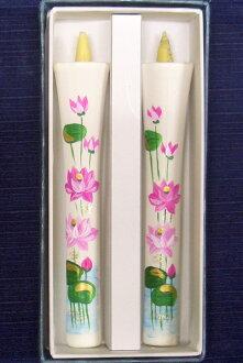 蓮花蠟燭號 10 兩塊 (手繪) 圖片蠟燭日本蠟燭佛教 10p16jun15