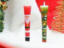 【クリスマス】「サンタクロース」 特別柄 3号 絵ろうそく(手描き)2本入 キャンドル 絵ローソク 和ろうそく 仏具