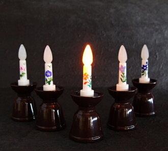 秋季電池操作蠟燭電池供電,與沒有消防安全。 關閉計時器 (手繪) 圖片蠟燭與日本蠟燭配件