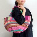 さきおりバッグ インド裂き織り2wayトートバッグ ショルダーバッグ 手さげ
