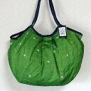 sisi グラニーバッグ 120%ビッグサイズ 刺繍シリーズ グリーン sisiバッグ A4が入る布バッグ