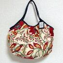 sisiグラニーバッグ120%ビッグサイズ大花レッドsisiバッグブロックプリント布バッグショルダーバッグ