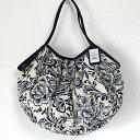 【メール便可】sisi グラニーバッグ 120%ビッグサイズ リネンコットン花柄 sisバッグ A4サイズが入る布バッグ ショルダーバッグ