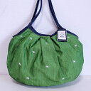sisi グラニーバッグ 定番サイズ 刺繍 グリーン sisiバッグ 布バッグ