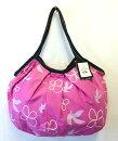sisiグラニーバッグ定番サイズ鳥と花ピンクろうけつ染めsisiバッグ布バッグショルダーバッグ