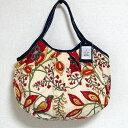 sisi グラニーバッグ 定番サイズ 大花 レッド sisiバッグ ブロックプリント 布バッグ ショルダーバッグ