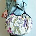 【メール便可】sisi グラニーバッグ 定番サイズ 新大花 パープル 布バッグ ブロックプリント sisiバッグ ショルダーバッグ