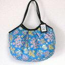 sisi グラニーバッグ 定番サイズ 珊瑚 ブルー 布バッグ ブロックプリント sisiバッグ