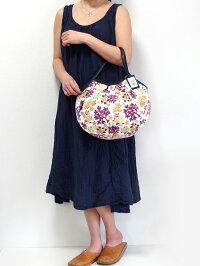 sisiグラニーバッグ定番サイズ珊瑚ホワイトsisiバッグ布バッグブロックプリント