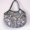 【メール便可】sisi グラニーバッグ 定番サイズ リネンコットン花柄 軽くて使いやすくてたためる布バッグ ショルダーバッグ