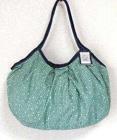 【メール便可】sisiグラニーバッグ 120%幅広サイズ 水玉 グレイ sisバッグ 布バッグ ろうけつ染め