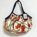 sisi ミニグラニーバッグ ブロックプリント大花 レッドsisiバッグ バッグインバッグ ちょっとそこまで布バッグ
